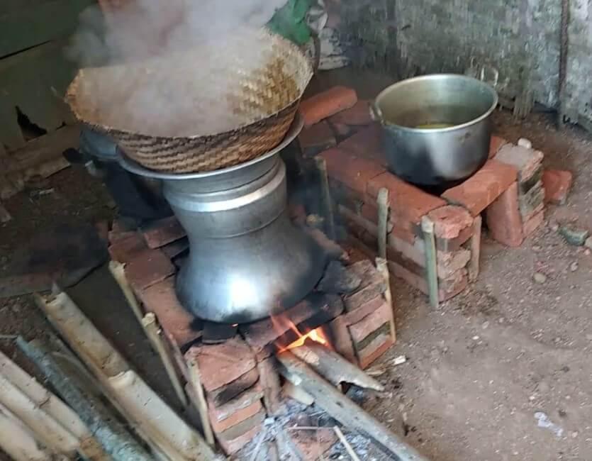 cara memasak nasi manual